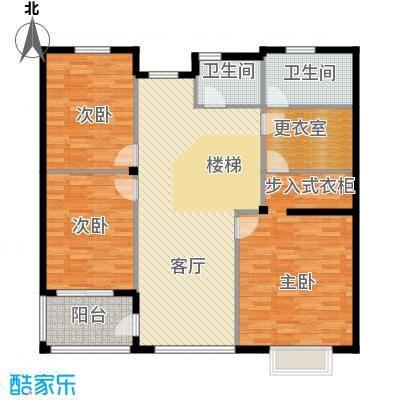 富士庄园三期樱花墅380.00㎡独栋、双拼别墅二层户型5室3厅5卫