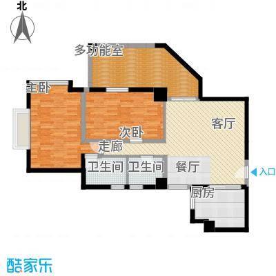 居礼润园98.41㎡3&6公寓户型2室2卫1厨