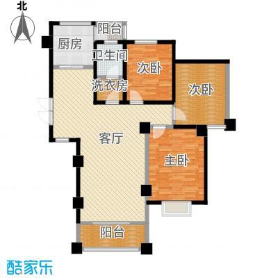 中航瑞祥花园127.61㎡C2户型3室2厅1卫