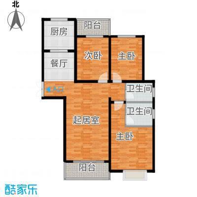 曲江风景线139.52㎡E3户型4室2厅2卫