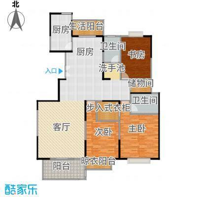 中国铁建梧桐苑172.00㎡在售E南北三阳台南北通透全明户型3室2厅2卫