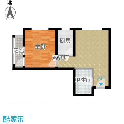 世纪龙庭二期52.00㎡A户型1室2厅1卫