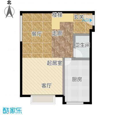 星河18552.53㎡星河185户型图C1平层户型(7/11张)户型1厅1卫1厨