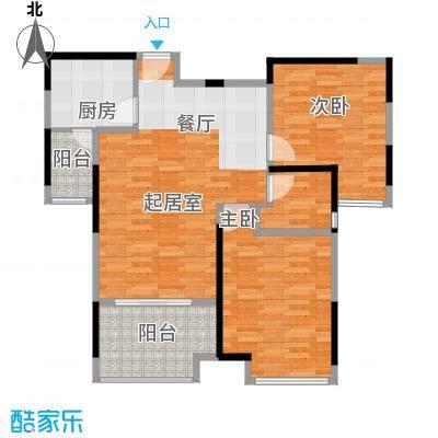 林隐天下86.00㎡二期林香庭C全明南向双阳台户型10室
