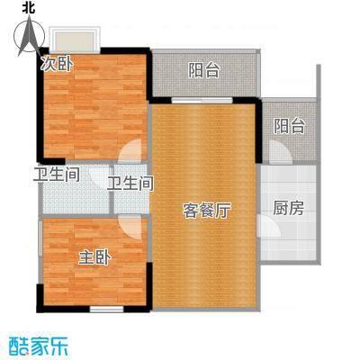 东原D7区84.00㎡4期1+2号-03户型2室2厅1卫