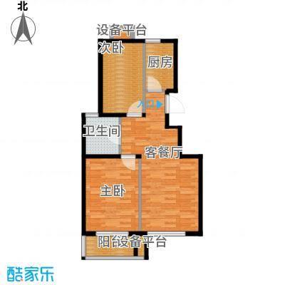 滨湖庄园78.00㎡Y1户型2室1厅1卫1厨