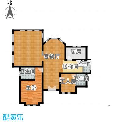 京津新城别墅265.31㎡京津新城独栋f-03c首层户型4室3厅2卫