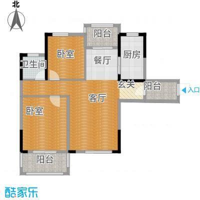 统建天成美雅92.00㎡7号楼G1户型2室2厅1卫