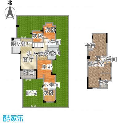 龙湖源著三期龙湖大道174.00㎡龙湖源著一期E1栋楼标准层1户型4室1厅5卫