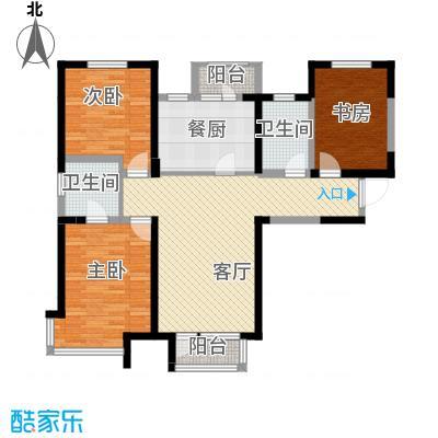 双发金玺城123.87㎡A型户型3室2厅1卫