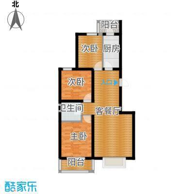 滨湖庄园102.00㎡M1户型3室1厅1卫1厨