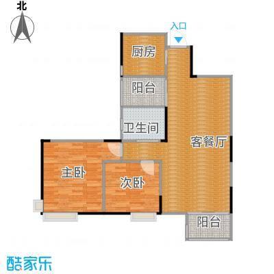 清江山水88.90㎡D2一期户型2室2厅1卫