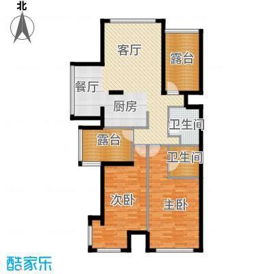 海棠公社110.94㎡A户型2室1厅2卫