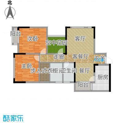 北城国际中心95.19㎡户型2室1厅2卫1厨