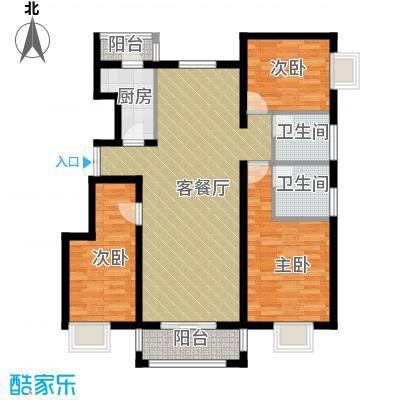 金润凤凰洲122.61㎡C921号楼户型3室2厅2卫