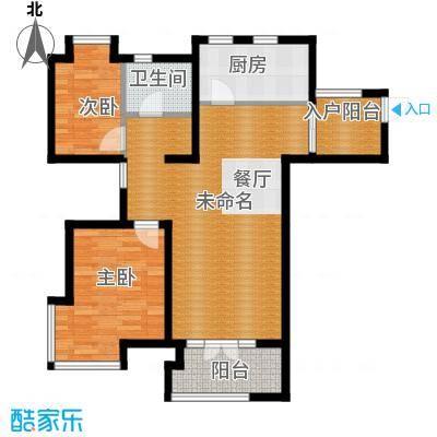 世茂生态城93.00㎡高层A1户型2室2厅1卫