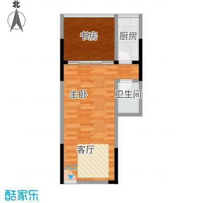 长帆江岸公馆40.23㎡A112号房户型2室1卫1厨
