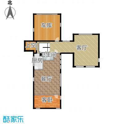 北京御墅169.98㎡A首层平面图户型10室