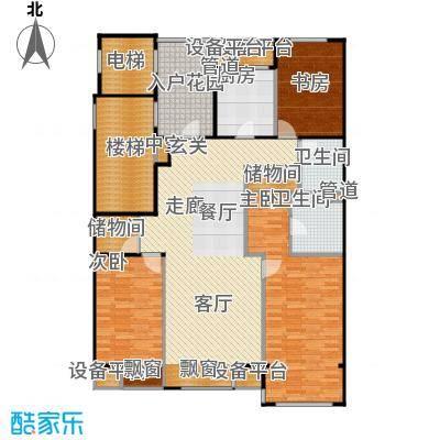 海棠公社海棠公社户型图D户型四室两厅两卫(1/2张)户型10室