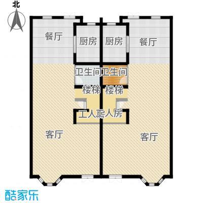 京津新城别墅197.10㎡京津新城联排G-09b首层户型3室2厅1卫