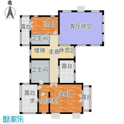 天恒・半山世家132.20㎡P二层平面图户型7室4厅5卫