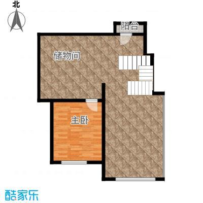 北京奥林匹克花园84.86㎡B2-XY4下层户型10室