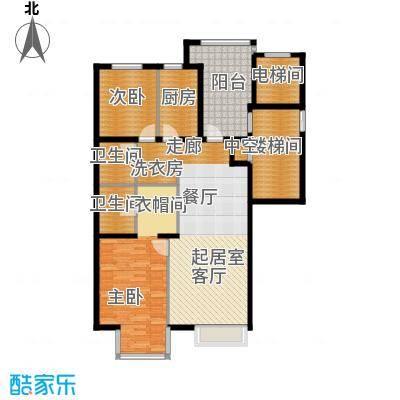 海棠公社123.31㎡C户型2室2卫1厨