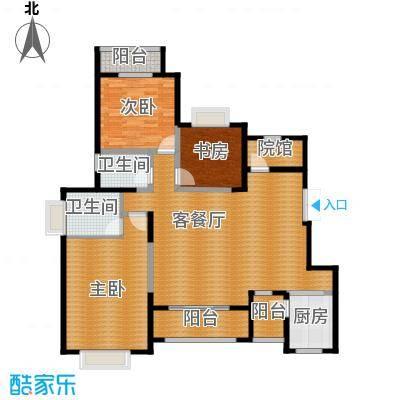 中国铁建山水时光123.13㎡洋房D2户型3室2厅2卫