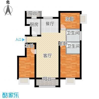 金润凤凰洲122.08㎡C113号楼户型3室2厅2卫