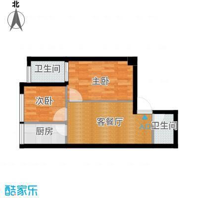 锦业时代58.23㎡B3户型2室1厅1卫