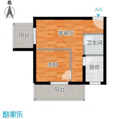 捷瑞新时代58.70㎡b-02户型1室1厅1卫1厨