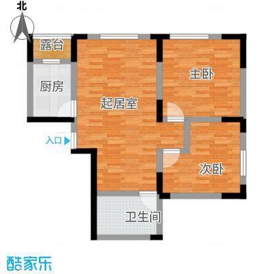 智造创想城88.04㎡10/14/18号楼C1户型2室2厅1卫