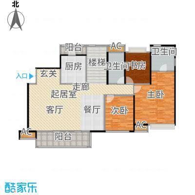新世界恒大华府249.00㎡D5户型 4室3厅4卫 一层户型4室3厅4卫