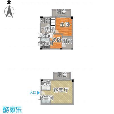 湘隆时代大公馆99.76㎡c4-2010户型2室1厅2卫1厨