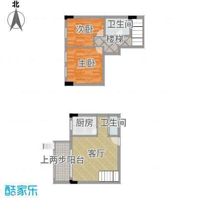 湘隆时代大公馆85.06㎡c4-2007户型2室1厅2卫1厨
