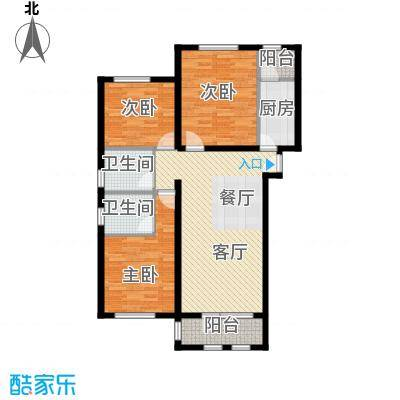 龙湖・香醍溪岸洋房104.85㎡户型10室