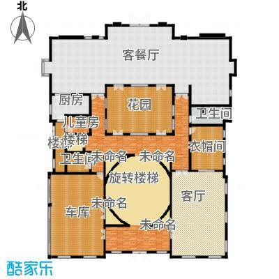 财富城堡415.75㎡b1-4首层平面图户型10室