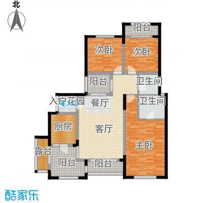 蓝溪谷地112.80㎡图为4FB户型3室1厅2卫1厨