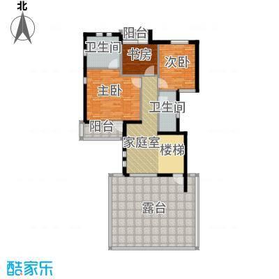 富力湾・半岛别墅122.40㎡H2二层平面图户型10室