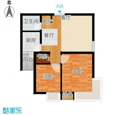锦尚名城74.91㎡L户型2室2厅1卫