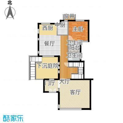 富力湾・半岛别墅113.39㎡H1一层平面图户型10室