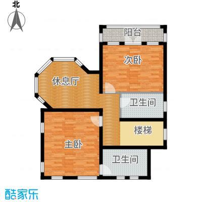 京津新城别墅263.69㎡京津新城独栋f-07二层户型3室2厅2卫