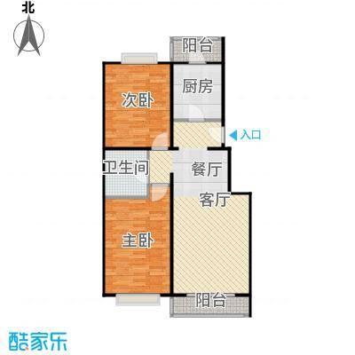 京东领秀城88.50㎡B1户型2室2厅1卫