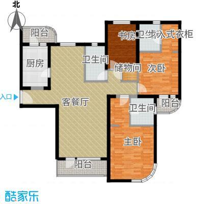 仁恒海河广场160.30㎡3号楼A1金角户型10室