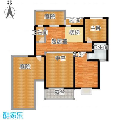 中航瑞祥花园225.90㎡复式B5二层户型4室2厅4卫