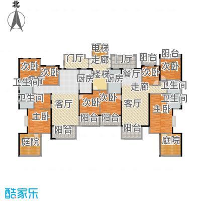 龙湖花千树131.00㎡D-1三层户型8室1厅4卫2厨