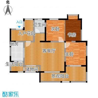香榭国际78.50㎡2011年2期1批次C2户型3室2厅1卫