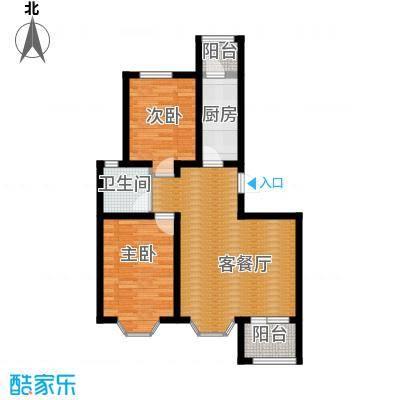 宝境栖园90.00㎡标准层C户型2室1厅1卫