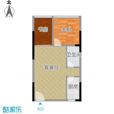 长帆江岸公馆48.96㎡A14、5号楼A25、6号房单间配套户型2室1厅1卫1厨