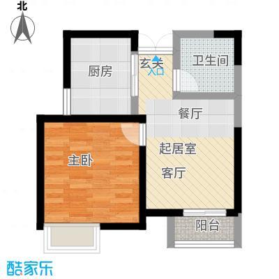爱尚公寓户型1室1卫1厨